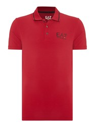 Emporio Armani Short Sleeve Train Core Id Polo Red
