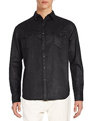 Cult Of Individuality Clint Coated Denim Sportshirt Black