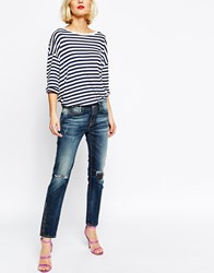 Vivienne Westwood Anglomania Ar Skinny Jeans With Distressing And Patches Blue