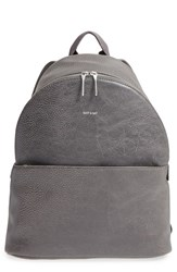 Matt And Nat 'July' Vegan Leather Backpack Grey Carbon