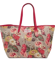 Cath Kidston Leather Trim Large Tote In Autumn Bloom Print Autumnbloom