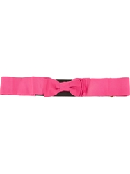 Lanvin Bow Embellished Belt Pink And Purple