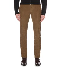 Slowear Slim Fit Tapered Corduroy Trousers Tobacco