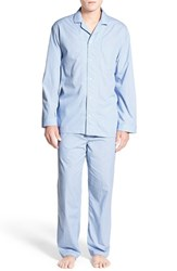Men's Nordstrom Men's Shop Poplin Pajama Set Blue Dobby Dot