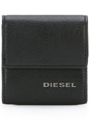 Diesel Logo Plaque Coin Purse Black