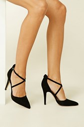 Forever 21 Faux Suede Strappy Stilettos