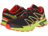 Salomon Wings Flyte 2 Black Granny Green Radiant Red Men's Shoes