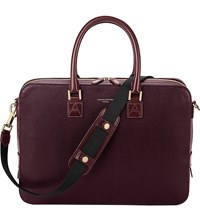Aspinal Of London Mount Street Saffiano Leather Bag Burgundy