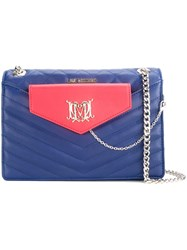 Love Moschino Quilted Chain Shoulder Bag Blue