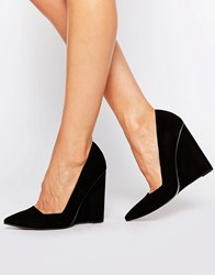 Asos Pulse Pointed Wedges Black