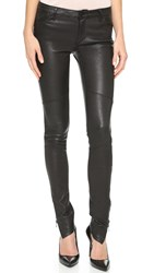 Superfine Rebel Luxe Stretch Leather Pants Black