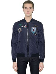 Dolce And Gabbana Patches Nylon Bomber Jacket