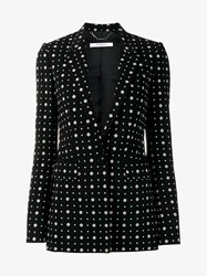 Givenchy Floral And Star Print Silk Jacket Black White Red