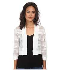 Rsvp Bre Crochet Shrug Ivory Women's Sweater White