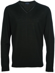 Lanvin Lightweight V Neck Sweater Black