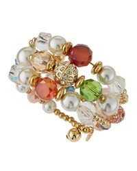 Greenbeads By Emily And Ashley Pastel Rhinestone Wrap Bracelet Golden Multicolor