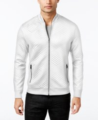 Inc International Concepts Men's Diamond Quilted Bomber Jacket Only At Macy's White Pure