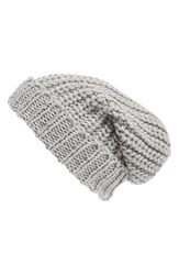 Women's Phase 3 Chunky Rib Knit Beanie Grey Grey Sconce