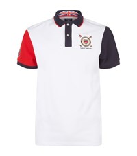 Hackett Embroidered England Polo Shirt Male White