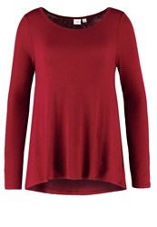 Gap Long Sleeved Top Garnet Dark Red
