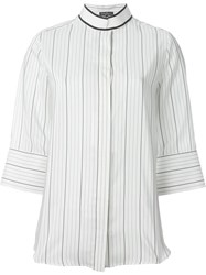 Salvatore Ferragamo Striped Blouse White