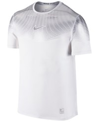Nike Men's Hypercool Dri Fit Max Fitted T Shirt White Silver