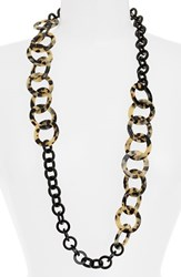 Women's L. Erickson 'Madison' Link Station Necklace Ivory Tokyo Black