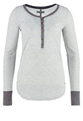 Abercrombie And Fitch Long Sleeved Top Grey Heather White Stripe