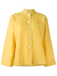 Yves Saint Laurent Vintage Mandarin Collar Shirt Yellow And Orange