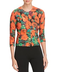 Karen Millen Archive Rose Print Cardigan 100 Bloomingdale's Exclusive Multicolor