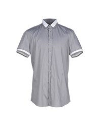 Dirk Bikkembergs Shirts Shirts Men Grey