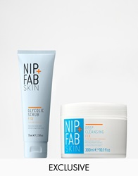Nip Fab Asos Exclusive Deep Cleansing Fix Glycolic Fix Scrub Set Save 50 Deepcleansingglyco