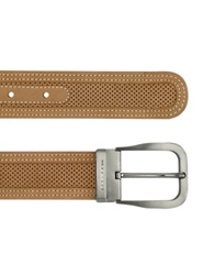Moreschi Men's Tan Perforated Leather Belt