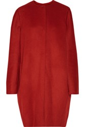 Marni Wool Cashmere And Angora Blend Coat Red