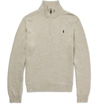 Polo Ralph Lauren Cotton Half Zip Sweater Sand