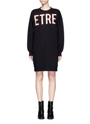 Etre Cecile 'Etre Terrestrial' Cotton Fleece Sweatshirt Dress Black