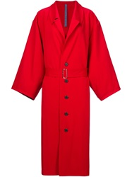 Nocturne 22 Nocturne 22 Oversized Lightweight Trench Coat Red