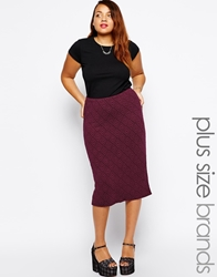 Alice And You Diamond Textured Pencil Skirt