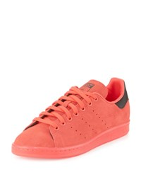 Adidas Men's Stan Smith Suede Sneaker W Ice Outsole Red