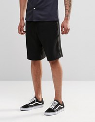 Asos Drop Crotch Shorts With Zips Navy