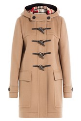 Burberry Brit Wool Duffle Coat Camel
