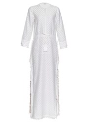 Talitha Jaya Cotton And Silk Blend Dress White