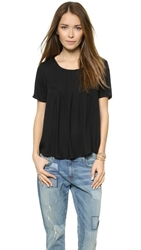 Ella Moss Stella Short Sleeve Blouse Black