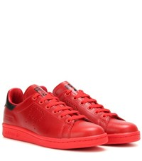 Raf Simons Stan Smith Leather Sneakers Red