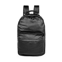 River Island Mens Black Perforated Front Backpack