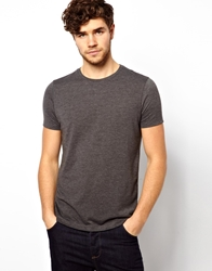 Asos T Shirt With Crew Neck Charcoalmarl