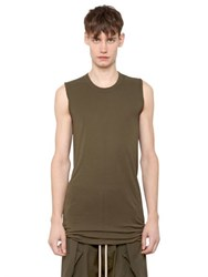 Rick Owens Silk And Viscose Jersey Sleeveless T Shirt