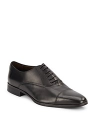Bruno Magli Leather Lace Up Dress Shoes Black
