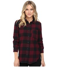 Vans Moody Blues Ii Flannel Port Royale Women's Clothing Burgundy