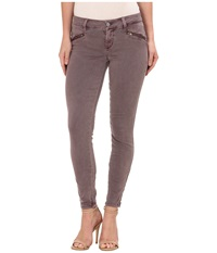 Level 99 Riley Skinny Moto W Ankle Zippers In Ashy Rose Ashy Rose Women's Jeans Brown
